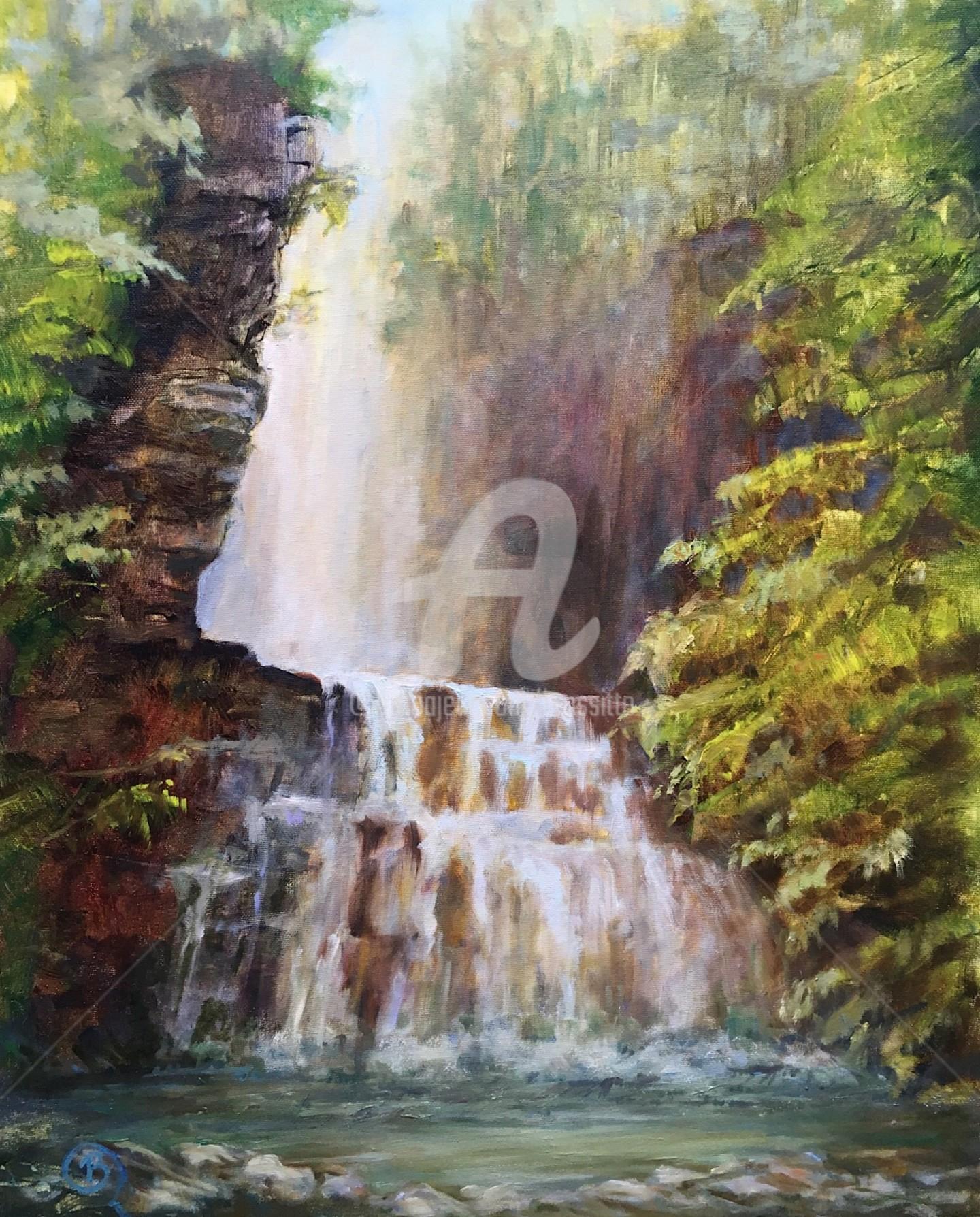 B.Rossitto - Tall Falls,  Adirondacks