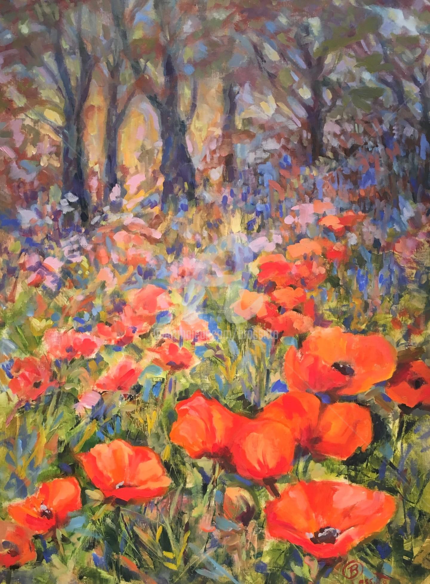 B.Rossitto - Lake Placid Poppies original