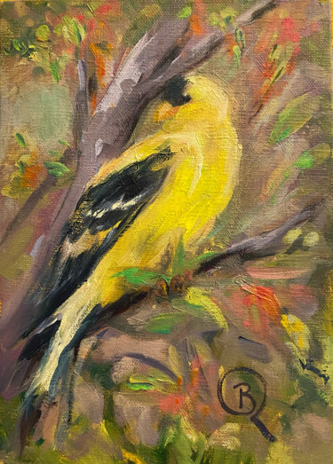 American Goldfinch Vertical