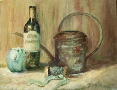 Still Life in Blue with Watering Pail