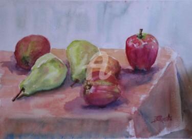 Apples and Pears on a Peach Cloth