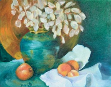 Lunas in a Teal Vase